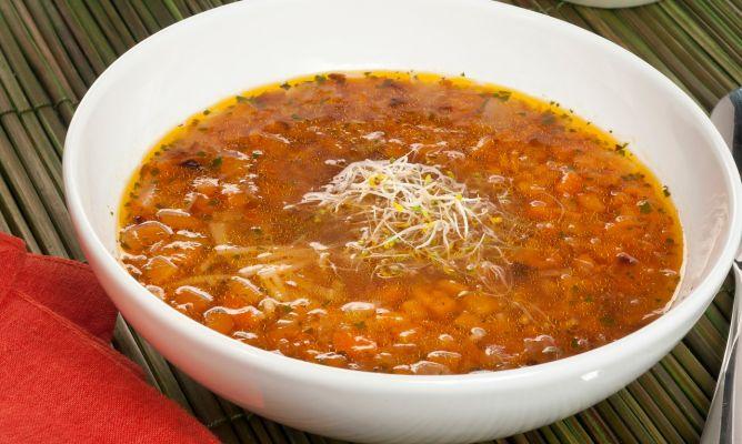 sopa de calabaza y albondigas